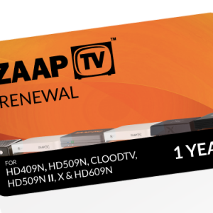 12 Months ZAAPTV Renewal PIN – Full Package