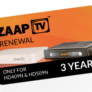 ZAAPTV 36-Months Renewal PIN-Full Package