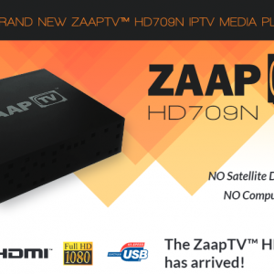 2019 ZAAPTV HD709n with 24 months of service