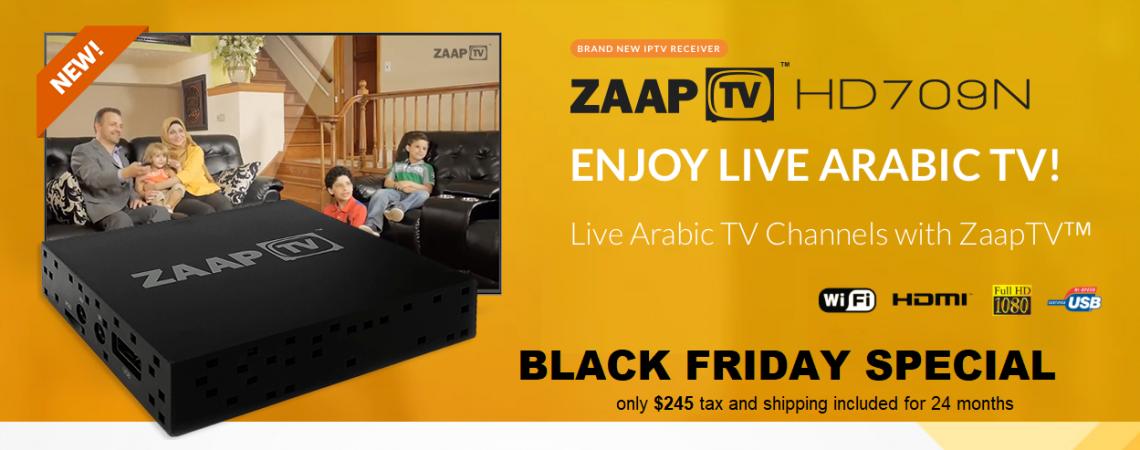 BLACK FRIDAY ZAAPTV 709