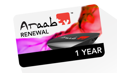 12 months ARAABTV Renewal Code – Full Package