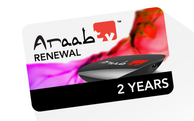 24 months ARAABTV Renewal Code – Full Package